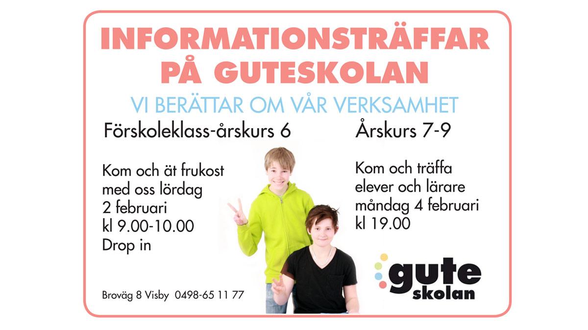 Informationsträff på Guteskolan våren 2013.